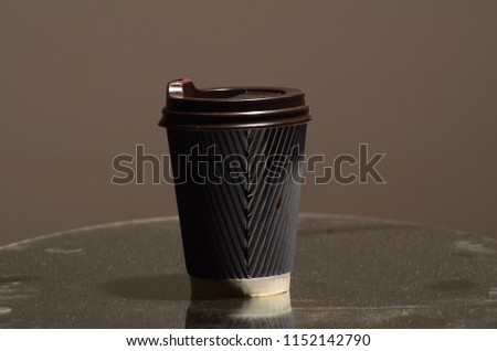 Paper coffee cup in coffee shop. #1152142790