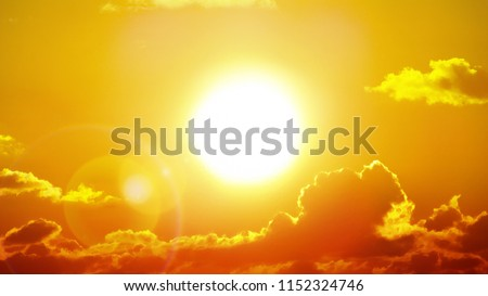 Heatwave hot sun. Climate Change. Global Warming. Royalty-Free Stock Photo #1152324746