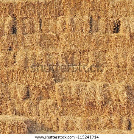 Stacked hay bales for background #115241914