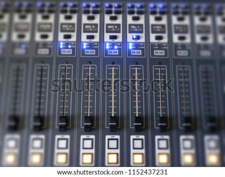 Mixer in the studio #1152437231