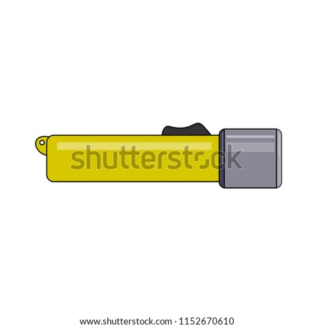 Flashlight for diving. Abstract concept, icon. Raster illustration on white background. #1152670610