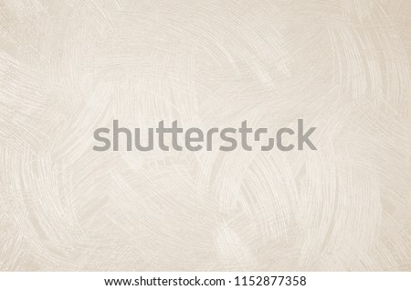 Design bedroom wall or reception room decorated with a wallpaper texture background. Abstract linen tone color beige, sepia and with cream. Vintage pattern fabric and cardboard surface.  #1152877358