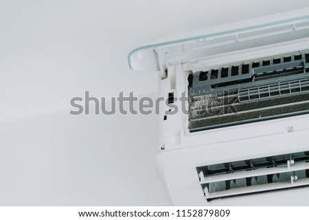 Dirty air conditioner blower fan, coil and filters, cause of allergy illness. #1152879809