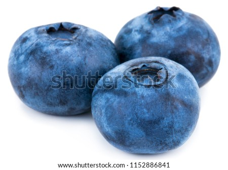 Blueberries isolated on white background. Clipping path. #1152886841