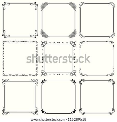Vector decorative frames (set 35) #115289518