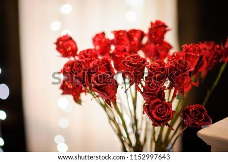 decoration wedding flower arch night #1152997643