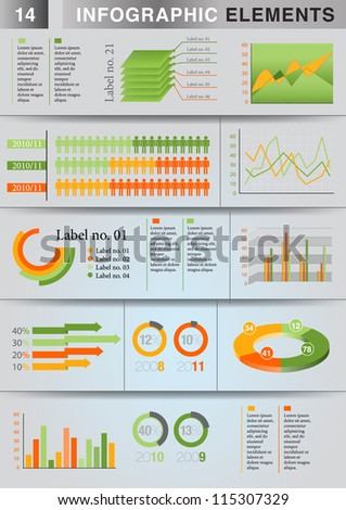 INFOGRAPHIC graph ELEMENT
