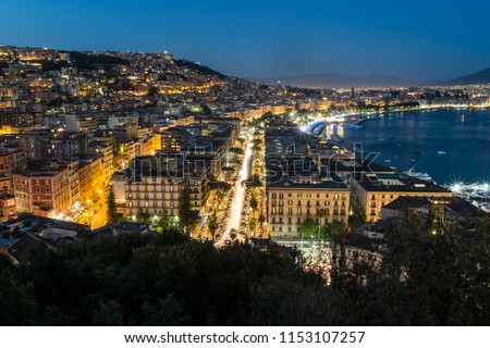 View on Gulf of Naples from 13 discese di Sant'Antonio in Posillipo #1153107257