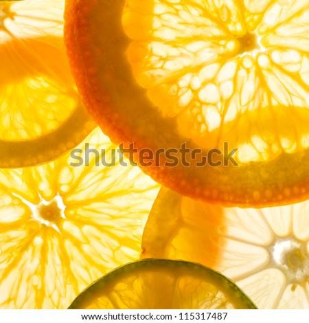 lime, lemon and orange slices #115317487