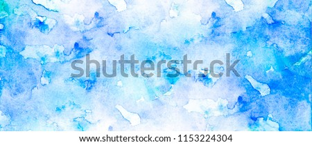 Artwork. Close up of dark blue watercolor painting art background, Abstract watercolor painting art. Hand drawing in color blue on cool toned. Watercolor texture for card or creative banner design.