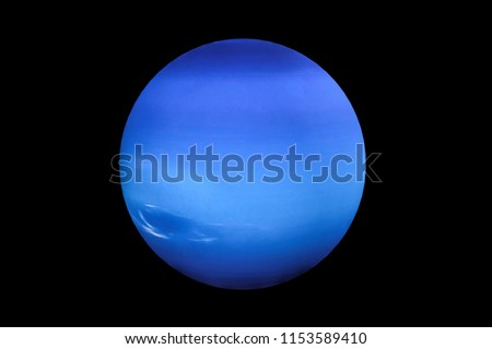 3d rendering  of Neptune planet and moon isolated on black