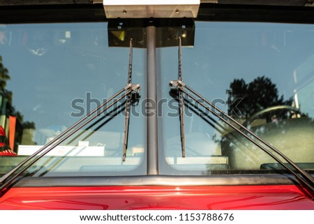 Wiper blades on the firefighter truck #1153788676