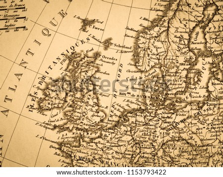 Old map of Europe #1153793422