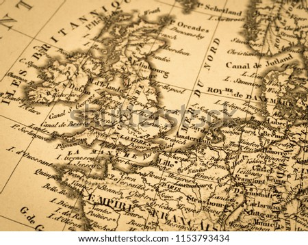 Old map of Europe #1153793434