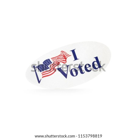 Standing Isolated Election I Voted Sticker. #1153798819