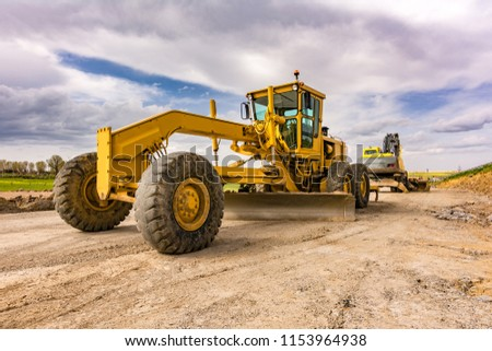 Construction machinery for a road #1153964938