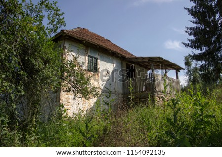 Western Serbia - One of uninhabited traditional houses in Dobrotin village #1154092135