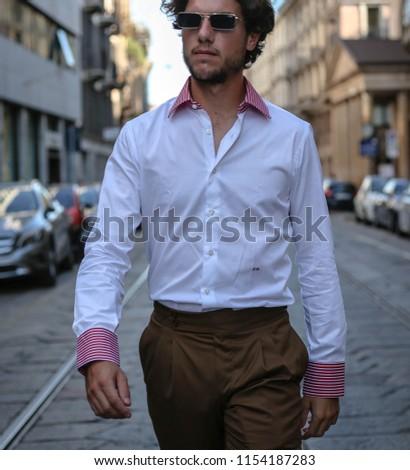 MILAN, Italy- July 19 2018:Federico Beltrami on the street in Milan #1154187283