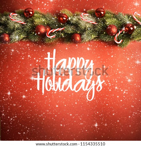 Blurred background, Happy Holidays, Christmas and New Year background #1154335510