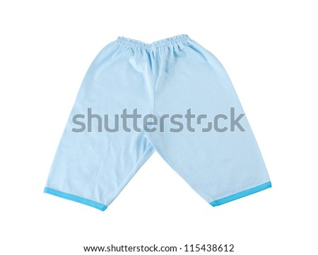 Blue baby pant on white background #115438612
