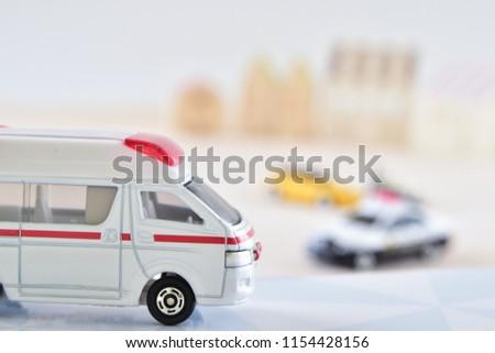 Emergency medical service concept: Ambulance #1154428156