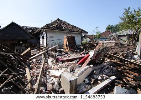impact of the 2018 Lombok Earthquake Royalty-Free Stock Photo #1154683753