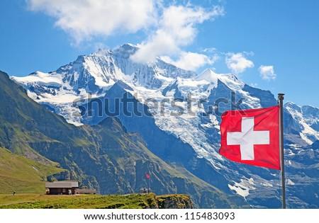 Famous mount Jungfrau in the swiss alps #115483093