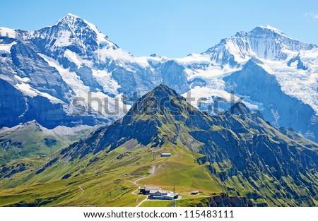 Famous mount Jungfrau in the swiss alps #115483111