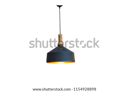 Ceiling lights and black decorations Royalty-Free Stock Photo #1154928898