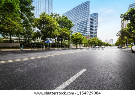 empty highway with cityscape and skyline of chengdu,China. #1154929084