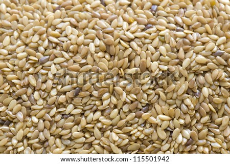 linseed or flaxseed full frame #115501942