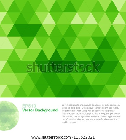 Green abstract geometrical background
