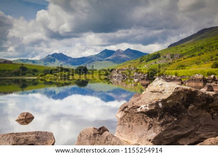 View to Mount Snowdon in Snowdonia National Park #1155254914