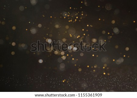 Gold abstract bokeh background, Merry Christmas and New Year background #1155361909