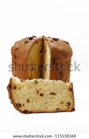 Christmas bread on white background,fresh bread. #115538368