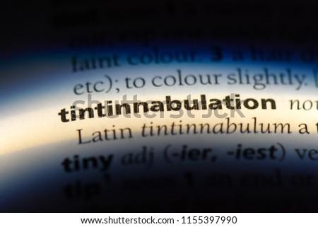 tintinnabulation word in a dictionary. tintinnabulation concept. #1155397990