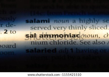 sal ammoniac word in a dictionary. sal ammoniac concept. #1155421510