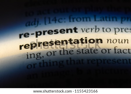 representation word in a dictionary. representation concept. Royalty-Free Stock Photo #1155423166