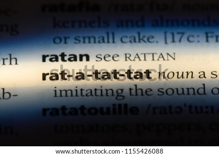 rat a tat tat word in a dictionary. rat a tat tat concept. #1155426088