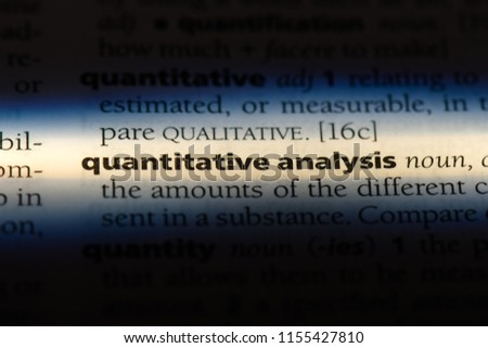 quantitative analysis word in a dictionary. quantitative analysis concept. #1155427810