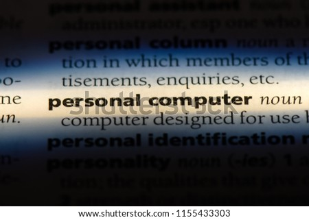 personal computer word in a dictionary. personal computer concept. #1155433303