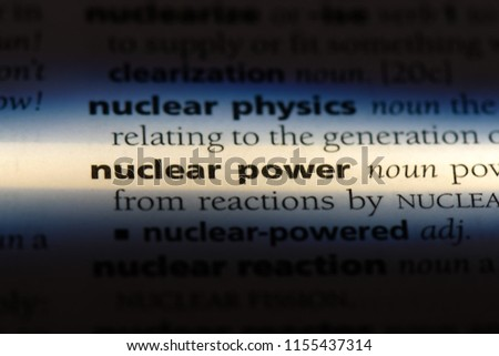 nuclear power word in a dictionary. nuclear power concept. #1155437314