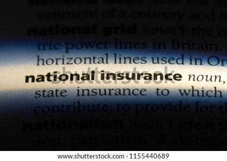 national insurance word in a dictionary. national insurance concept. #1155440689
