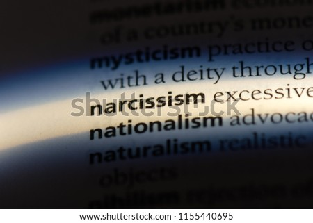 narcissism word in a dictionary. narcissism concept. #1155440695