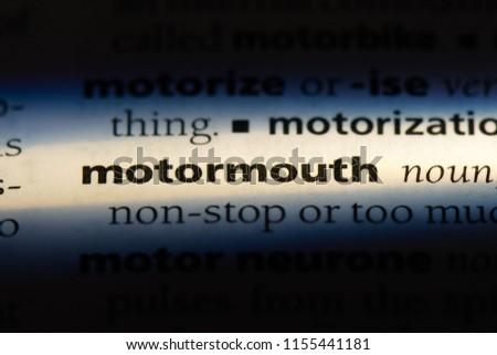 motormouth word in a dictionary. motormouth concept. #1155441181