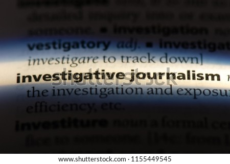 investigative journalism word in a dictionary. investigative journalism concept. #1155449545