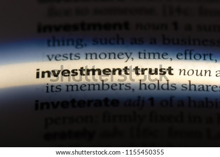 investment trust word in a dictionary. investment trust concept. #1155450355
