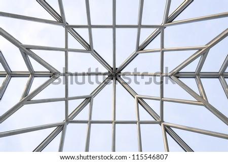 stainless steel frame of skylight roof #115546807