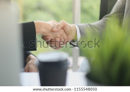 Businessmen shake hands, congratulate the concept, growth. #1155548050