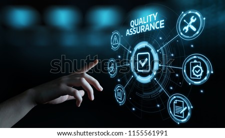 Quality Assurance Service Guarantee Standard Internet Business Technology Concept. Royalty-Free Stock Photo #1155561991